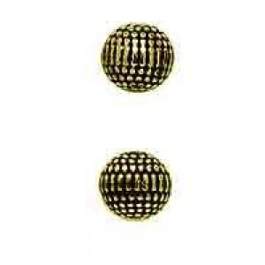 6mm Round Sand Bead Antique Gilt