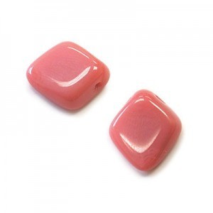 12x14mm Pink Satin Diamond Drop Loose (150pc)