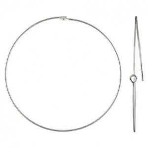 45mm Beading Hoop 0.7mm Wire 1/10 .925 Silver Filled 20pcs