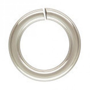 10mm 14g(1.63mm) Open Jump Ring 1/10 .925 Silver Filled 25pcs