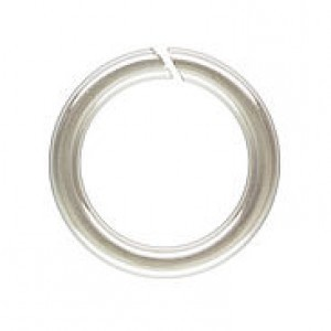 9mm 16g(1.27mm) Open Jump Ring 1/10 .925 Silver Filled 50pcs