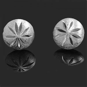 18mm Brushed Coin Bead W/ Cutout Slits Forever Silver™ 1pc