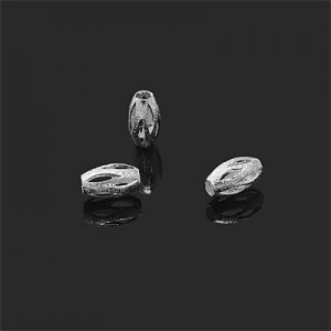 8x5mm Oval Bead W/ Cutouts Slits Forever Silver™ 10pcs