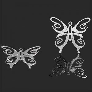 25mm Butterfly Charm Forever Silver™ 2pcs
