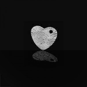 16x17mm Heart W/ Water Droplet Design Charm Forever Silver™ 5pcs