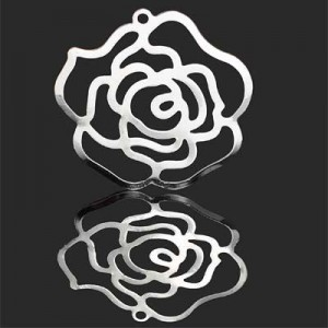 33mm Rose Charm Forever Silver™ 2pcs