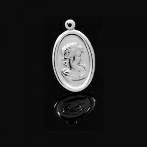 23x14mm Cameo Charm Forever Silver™ 5pcs