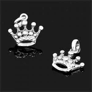 22x28mm Crown Charm Forever Silver™ 1pc