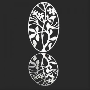 40x24mm Filigree Oval Pendant Forever Silver™ 1pc
