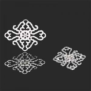 23x18mm Victorian Style Charm Forever Silver™ 5pcs