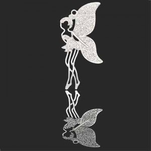 40x18mm Fairy Charm Forever Silver™ 2pcs
