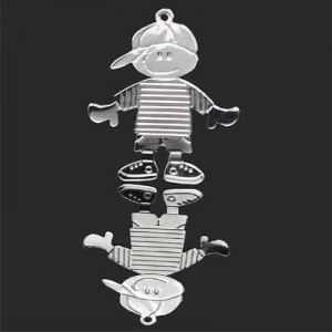 30x24mm Boy Charm Forever Silver™ 2pcs