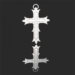 36x24mm Cross Fleury Forever Silver™ 2pcs
