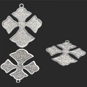 26x22mm Cross Patonce Forever Silver™ 2pcs
