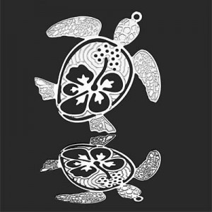 35mm Sea Turtle Charm Forever Silver™ 1pc