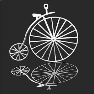 38x42mm Penny-Farthing Bicycle Pendant Forever Silver™ 1pc