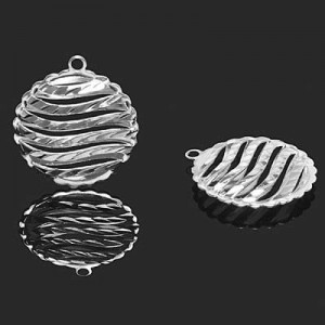20mm Puffy Round Pendant Forever Silver™ 1pc