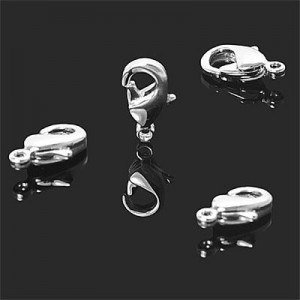 8mm Lobster Clasp Forever Silver™ 5pcs