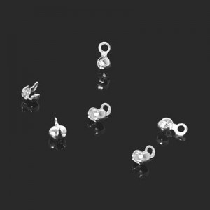 3mm Bead Tip W/ Ring Forever Silver™ 20pcs