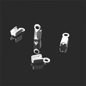 End Tip Fold W/ Loop 2.5mm Id Forever Silver™ 10pcs