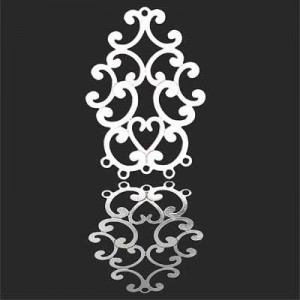40x26mm Victorian Style Chandelier Pendant Forever Silver™ 1pc