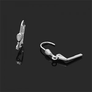 17mm Shell Lever Back W/ Ring Forever Silver™ 2pairs