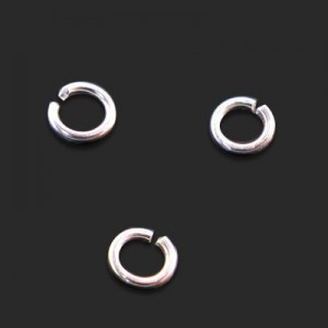 4mm Open Jump Ring 0.7mm Wire Forever Silver™ 200pcs