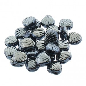 Shelly™ Shells 2-Hole Czech Bead 8mm Blue Sphinx (100pc)