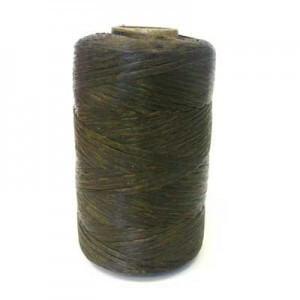 Dark Brown Artificial Sinew Waxed Polyester Cord 8oz Spool (Approx. 272 Yd)