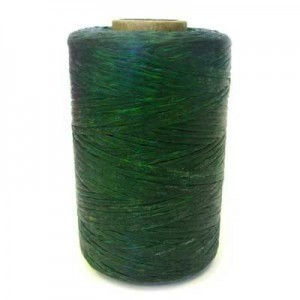 Dark Green Artificial Sinew Waxed Polyester Cord 8oz Spool (Approx. 272 Yd)