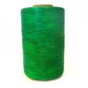 Emerald Green Artificial Sinew Waxed Polyester Cord 8oz Spool (Approx. 272 Yd)