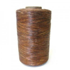 Medium Brown Artificial Sinew Waxed Polyester Cord 8oz Spool (Approx. 272 Yd)