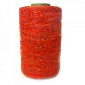 Orange Artificial Sinew Waxed Polyester Cord 8oz Spool (Approx. 272 Yd)
