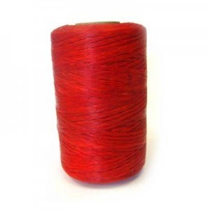 Red Artificial Sinew Waxed Polyester Cord 8oz Spool (Approx. 272 Yd)