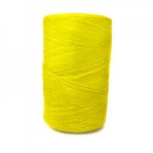 Yellow Artificial Sinew Waxed Polyester Cord 8oz Spool (Approx. 272 Yd)