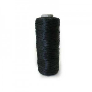 Black Artificial Sinew Waxed Polyester Cord 1oz Spool (Approx. 34 Yd)