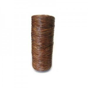 Medium Brown Artificial Sinew Waxed Polyester Cord 1oz Spool (Approx. 34 Yd)