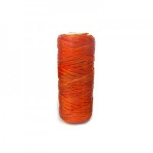Orange Artificial Sinew Waxed Polyester Cord 1oz Spool (Approx. 34 Yd)