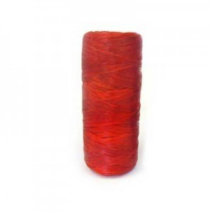 Red Artificial Sinew Waxed Polyester Cord 1oz Spool (Approx. 34 Yd)