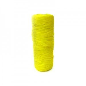 Yellow Artificial Sinew Waxed Polyester Cord 1oz Spool (Approx. 34 Yd)