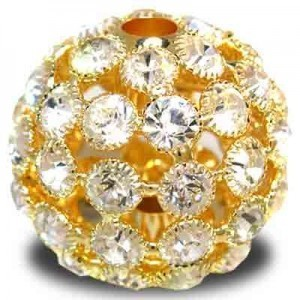 35mm Crystal on Gold Plate Rhinestone Snowball