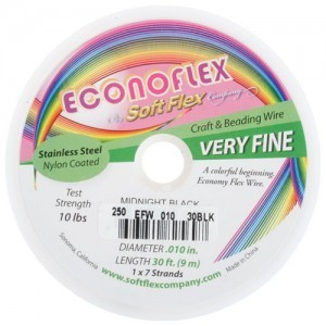 Econoflex Wire .010 Dia. 30 Ft (9m) 1x7 Strand Midnight Black
