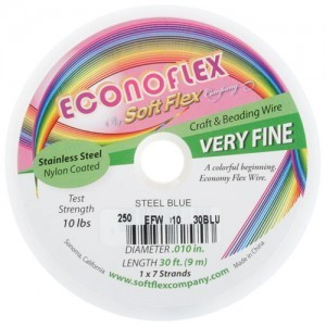 Econoflex Wire .010 Dia. 328 Ft (100m) 1x7 Strand Steel Blue