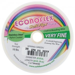 Econoflex Wire .010 Dia. 30 Ft (9m) 1x7 Strand Spring Green