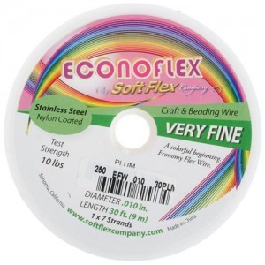 Econoflex Wire .010 Dia. 30 Ft (9m) 1x7 Strand Plum