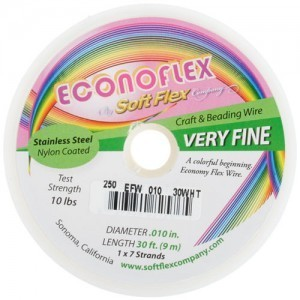 Econoflex Wire .010 Dia. 328 Ft (100m) 1x7 Strand Snow White