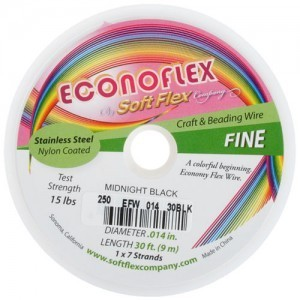 Econoflex Wire .014 Dia. 30 Ft (9m) 1x7 Strand Midnight Black