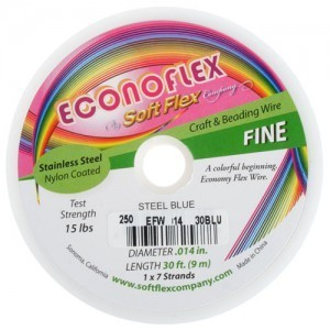 Econoflex Wire .014 Dia. 328 Ft (100m) 1x7 Strand Steel Blue