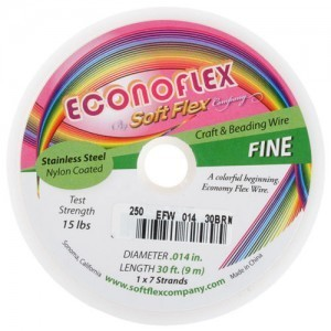 Econoflex Wire .014 Dia. 328 Ft (100m) 1x7 Strand Autumn Brown