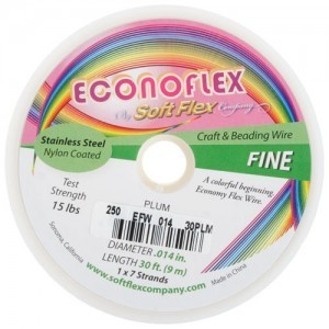 Econoflex Wire .014 Dia. 30 Ft (9m) 1x7 Strand Plum